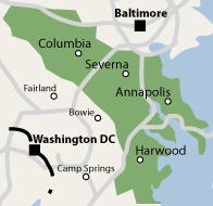 Maryland Service Map