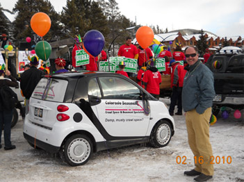 Colorado Basement Systems participated in the 2010 Mardi Gras events at Breckenridge, CO....